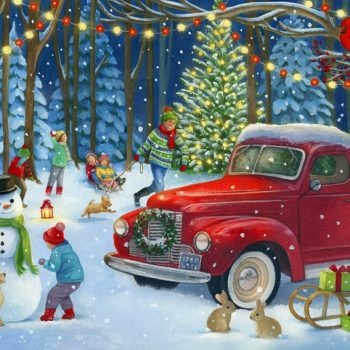 Red Pick Up Truck Advent